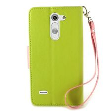 CoverON® for LG G3 Stylus D690 Wallet Case Green & Pink Credit Card Folio Cover