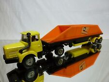 CORGI TOYS MAJOR BERLIET TRUCK + DISCHARGED DUMPER - YELLOW 1:50 - GOOD