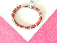 Brighton Woodstock Poppyville Leather Charm Bracelet ML New tags $40