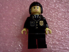 LEGO FEMALE COP POLICE OFFICER SWAT TEAM MINIFIG  city town girl woman FIGURE