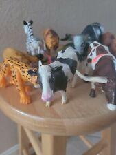 Animal Toy Figures Lot (Wildlife/Zoo) Heavy Plastic Animals