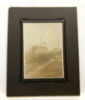 Antique Cabinet Photo UK SS Baron Ardrossan Skinners Dry Dock Baltimore MD 1908