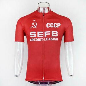 RETRO SEFB CCCP Cycling Jersey Cycling Short Sleeve Jersey