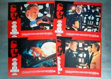 SET OF 8 CINEMA MOVIE LOBBY CARDS - THE HUNT FOR RED OCTOBER - SEAN CONNERY