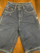 FUBU The Collection Size 10 Carpenter Jean Shorts Blue