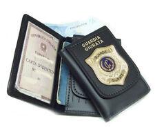 Portafoglio Vega cuoio 1WD110 per guardia giurata guardie giurate con placca