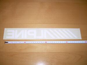 Pegatina ///// ALPINE 36 x 4,5 cm Sticker Para pegar por el interior del cristal