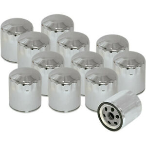 S&S Cycle Oil Filter - Chrome - 12 Pack | 310-0240