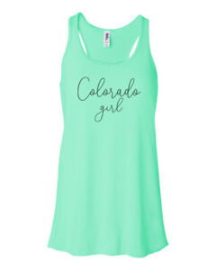 COLORADO GIRL, ROCKIES, RACERBACK, Athleisure, Sublimation, Women's TANK TOP