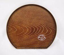 Petit plateau japonais rond imitation bois - Made in Japan - Import direct