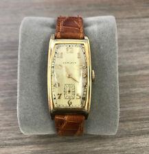 Hamilton Men's Watch1937 Carlisle 14K GOLD Filled 1938 Gents Art Deco Vintage