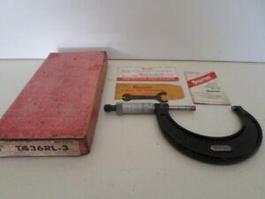 """Starrett T436RL-3 Automotive Crankshaft Micrometer 2-3"""""""