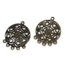 10 pcs Antique Bronze Gold Findings for Chandelier Earrings, Pendants chb0243