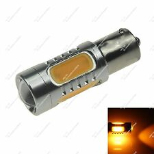 1X Yellow Car 5 COB 7.5W LED 150° BAU15s PY21W Turn Light Side Tail Bulb 20786
