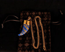 New ROBERTO CAVALLI Gold-plated USB stick pendant necklace