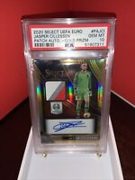 2020 Select UEFA Euro Jasper Cillessen Gold Prizm Patch Auto #09/10 PSA 10