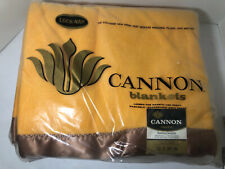 NewVintage Embraceable Cannon Lock-Nap Blanket 72 x 90 Gold Mustard Yellow Retro