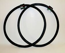 "BLACK TWO KENDA ROAD RAISED CENTER 27X1-1/4"" ROAD BIKE BICYCLE TIRES PAIR NEW"