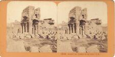 Baalbek Ruines Liban Lebanon Stereo J. Andrieu Vintage Albumine c1870