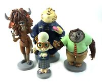 Disney Zootopia PVC Figures Lot Cake Toppers Clawhauser Flash Bellwether Yax Yak