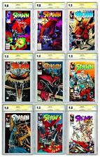 SPAWN #1 2 3 4 5 6 7 8 9 ALL CGC SS 9.8 Todd McFarlane Signed 1+2 are Newsstand