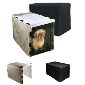 Pet Dog Crate Cover Waterproof Black Small Large Durable Fashion Cage Cover