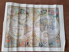 Map of the World A New and Accvrat  Reproduced Hammond from original print