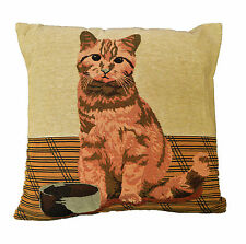 Whiskers Cat Filled Cushion 40x40cm Tapestry