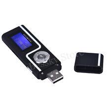 Portátil USB MP3 música reproductor soporte LCD 16GB TF tarjeta Radio FM