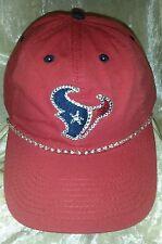 Houston Texans Women's Ladies Red Rhinestone Bling NFL Cap Hat ~NEW~