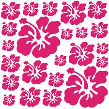 Sticker Décoration Planche Nature Fleurs d'Hibiscus ( 20x20 cm à 30x30 cm)