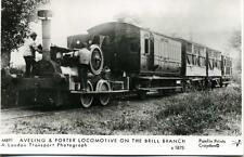 Pamlin photo postcard M891 Aveling Porter Locomotive Brill Branch 1875