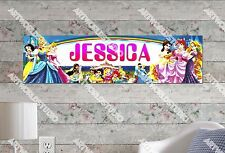 Personalized/Customized Disney Princess Name Poster Wall Art Decoration Banner