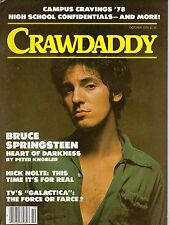 Crawdaddy Magazine Oct 1978 Bruce Springsteen Nick Nolte Battlestar Galactica