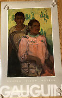 NORTON SIMON MUSEUM poster -TAHiTIAN Woman And Boy 1899 By Paul GAUGUIN