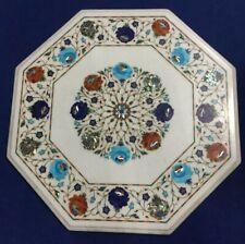 "18"" Marble coffee Table Pietra Dura Handicraft art Work furniture home decor"