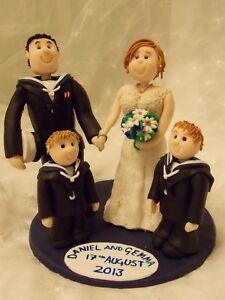 Personalised Wedding Cake Topper Bride and Groom customised