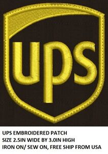 **LOVE IT OR ITS FREE** UPS EMBROIDERED PATCH, IRON ON/SEW ON, DIY, FREE SHIP