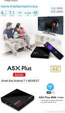 NEW MODEL Portable A5X Plus Mini Android 7.1 Smart TV Box 4K Quad Core WIFI 2.4G