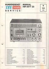 ITT GRAETZ - HIFI MTT 20 - Service Manual Schaltplan - B6505