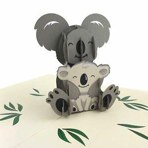 Koala & Baby 3D pop up card