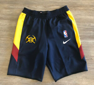 Nike NBA Authentic Denver Nuggets Team Issued On Court Shorts Mens Sz Large Tall