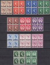 Oman 1957 ** Mi.66/76 SG 65/75 Bl/4 Definitives QEII [st1707]