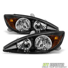 For 2002 2003 2004 Toyota Camry Black SE Style Headlights Headlamps Left+Right