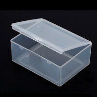 5pcs Clear Plastic Storage Box Collection Container Case Part Box Jw