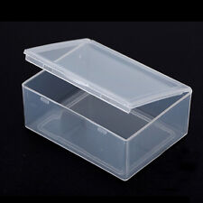 5pcs Clear Plastic Storage Box Collection Container Case Part Box 7hK