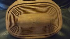 Wooden accordion hand crafted bowl