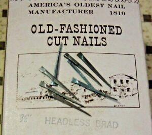 "Antique Furniture Restoration Tremont Cut Nail 40 Pc Lot Headless Brad 7/8"""