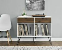 Vinyl Record Player Storage Stand Rack LP Turntable Retro Table Album Drawers