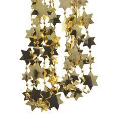 """Girlande """"Sternengirlande"""" Hellgold L2,7m Perlenkette mit Sternen Baumkette"""